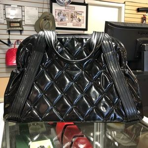 CHANEL Bags - Chanel Quilted Patent Vinyl Paris Shanghai Tote